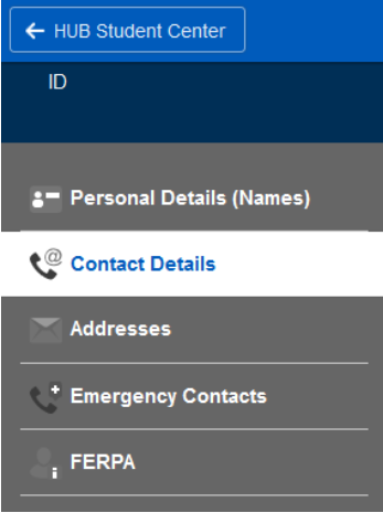 Screenshot showing the Contact Details tab.