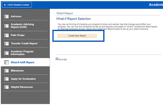 "Screenshot of ""Create New Report"" button being selected."