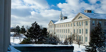 UB's South Campus in the winter.