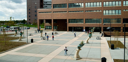 Founders Plaza on UB's North campus.